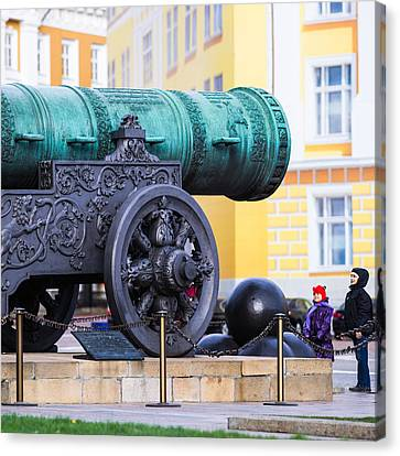 Tzar Cannon Of Moscow Kremlin - Square Canvas Print by Alexander Senin