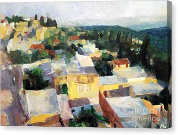 Tzfat Canvas Print by David Baruch Wolk