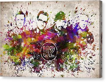 U2 In Color Canvas Print by Aged Pixel