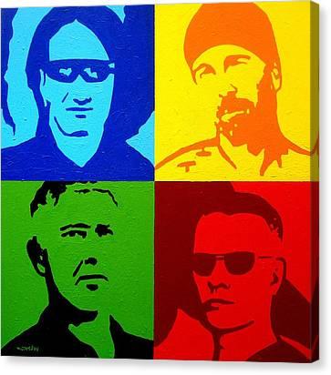 U2 Canvas Print by John  Nolan