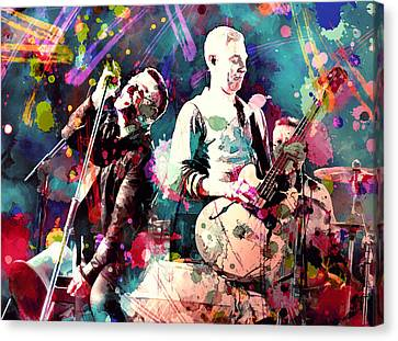 U2 Canvas Print by Rosalina Atanasova