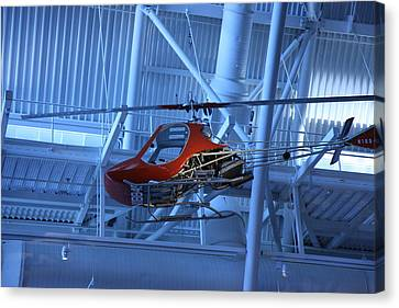 Udvar-hazy Center - Smithsonian National Air And Space Museum Annex - 1212102 Canvas Print by DC Photographer