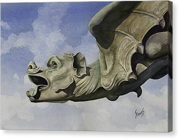 Ulmer Munster Gargoyle Canvas Print by Sam Sidders