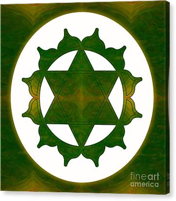 Ultimate Tranquility Abstract Chakra Art By Omaste Witkowski Canvas Print by Omaste Witkowski
