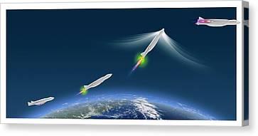 Ultra-rapid Air Vehicle Canvas Print by Claus Lunau