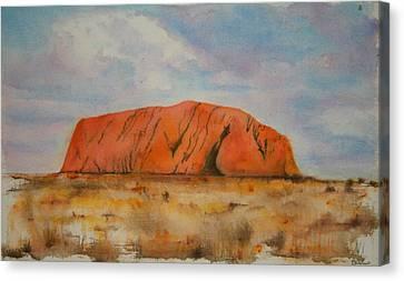 Uluru Canvas Print by Lyndsey Hatchwell
