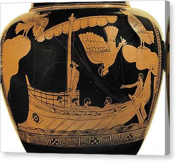 Ulysses And The Sirens. Ca.  450 Bc Canvas Print by Everett