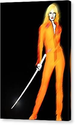 Uma Thurman Kill Bill Canvas Print by Tony Rubino