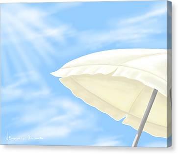 Umbrella Canvas Print by Veronica Minozzi