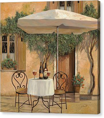 Un Altro Bicchiere Prima Di Pranzo Canvas Print by Guido Borelli