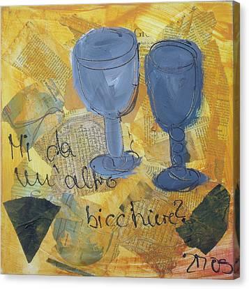 Un Altro Bicchiere Canvas Print by Sonja  Zeltner