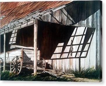 Uncle Seifs Wagon  Canvas Print by Don F  Bradford
