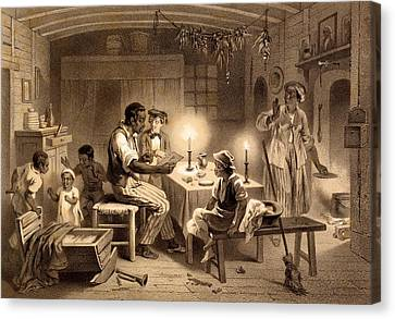 Uncle Toms Cabin, Plate 1 From Uncle Canvas Print by Adolphe Jean-Baptiste Bayot