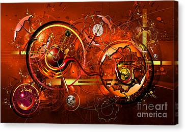 Uncontrolled Reality Canvas Print by Franziskus Pfleghart