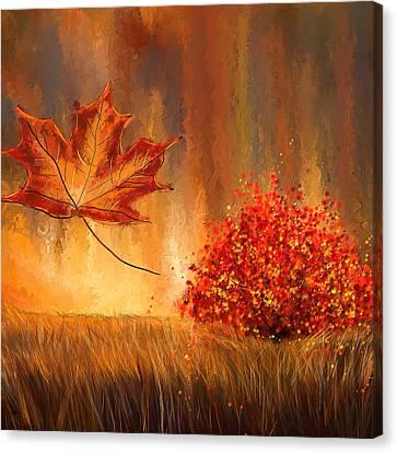 Undeniably Autumn- Autumn Impressionist Painting Canvas Print by Lourry Legarde