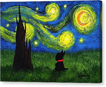 Under A Starry Night Canvas Print by Todd Young