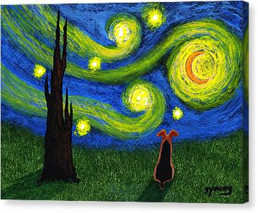 Under A Starry Sky Canvas Print by Todd Young
