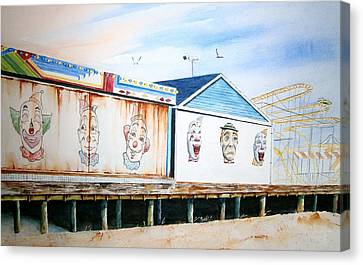Under The Boardwalk Canvas Print by Brian Degnon