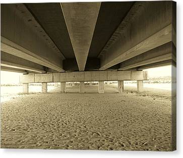 Under The Bridge Canvas Print by Joanne Askew