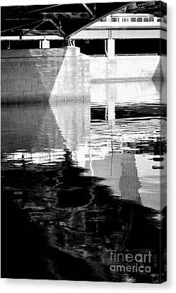 under the bridge - the X Canvas Print by Bener Kavukcuoglu