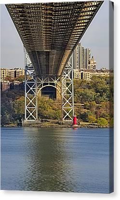 Under The George Washington Bridge II Canvas Print by Susan Candelario