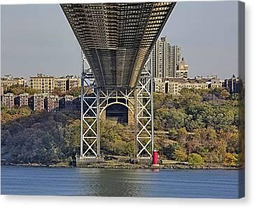 Under The George Washington Bridge IIi Canvas Print by Susan Candelario