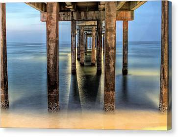 Under The Gulf Shores Pier Canvas Print by JC Findley