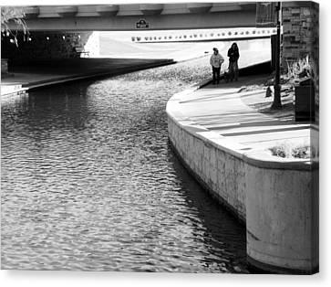Under The Main Street Bridge Canvas Print by Lenore Senior