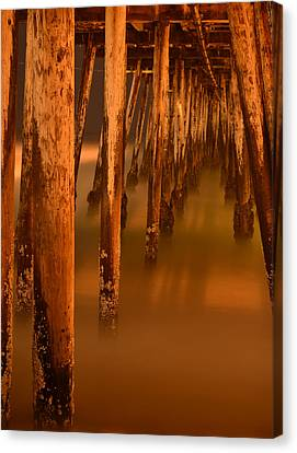 Under The Pier Canvas Print by Mike Schmidt