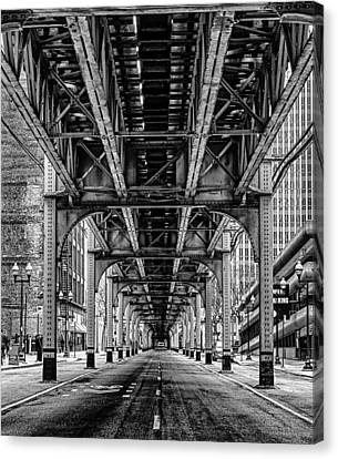 Under The Red Line Canvas Print by Mike Burgquist