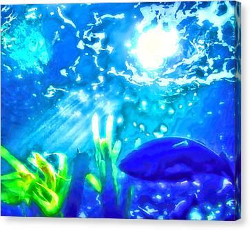 Under The Sea Illumination Canvas Print by Tracie Kaska