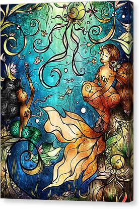 Under The Sea Canvas Print by Mandie Manzano