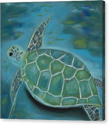 Under The Sea Canvas Print by Mary Benke
