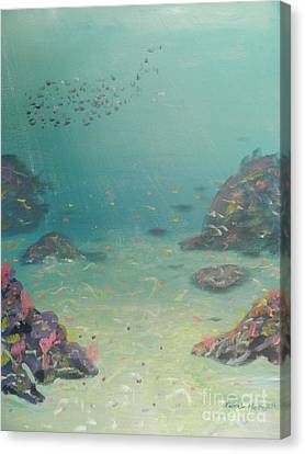 Under The Sea Canvas Print by Pamela  Meredith