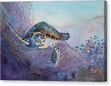 Under The Sea Canvas Print by Teri  Jones