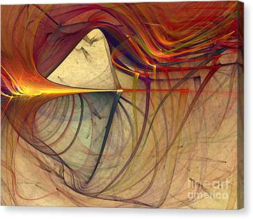 Under The Skin-abstract Art Canvas Print by Karin Kuhlmann