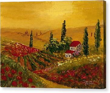 Under The Tuscan Sun Canvas Print by Darice Machel McGuire