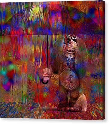 Under The Umbrella Canvas Print by Jack Zulli