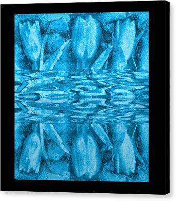 Under The Water Is Tulips Canvas Print by Pepita Selles