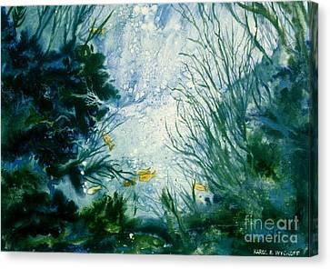 Under Water View Canvas Print by Karol Wyckoff