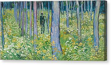 Undergrowth With Two Figures, 1890  Canvas Print by Vincent van Gogh