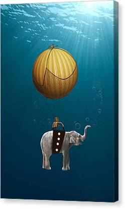 Underwater Fantasy Canvas Print by Marvin Blaine