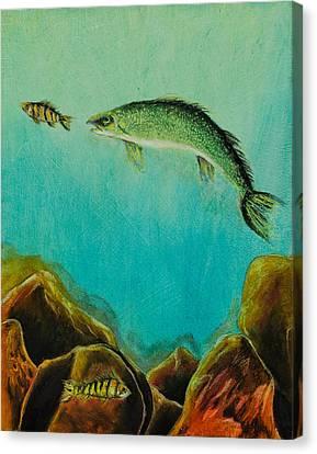 Underwater Predators Panel 1 Canvas Print by Jeanne Fischer