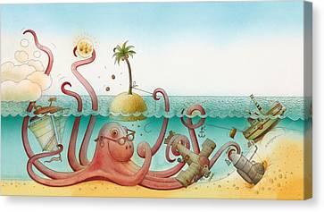 Underwater Story 06 Canvas Print by Kestutis Kasparavicius