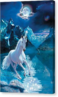 Unicorn Canvas Print by Andrew Farley