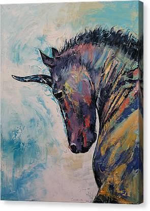 Dark Unicorn Canvas Print by Michael Creese