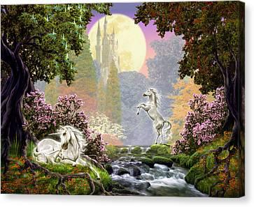 Unicorn New Born Canvas Print by Garry Walton