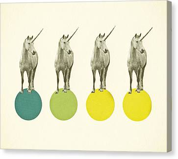 Unicorn Parade Canvas Print by Cassia Beck