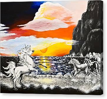 Unicorn Canvas Print by Svetlana Sewell