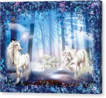 Unicorns Canvas Print by Zorina Baldescu